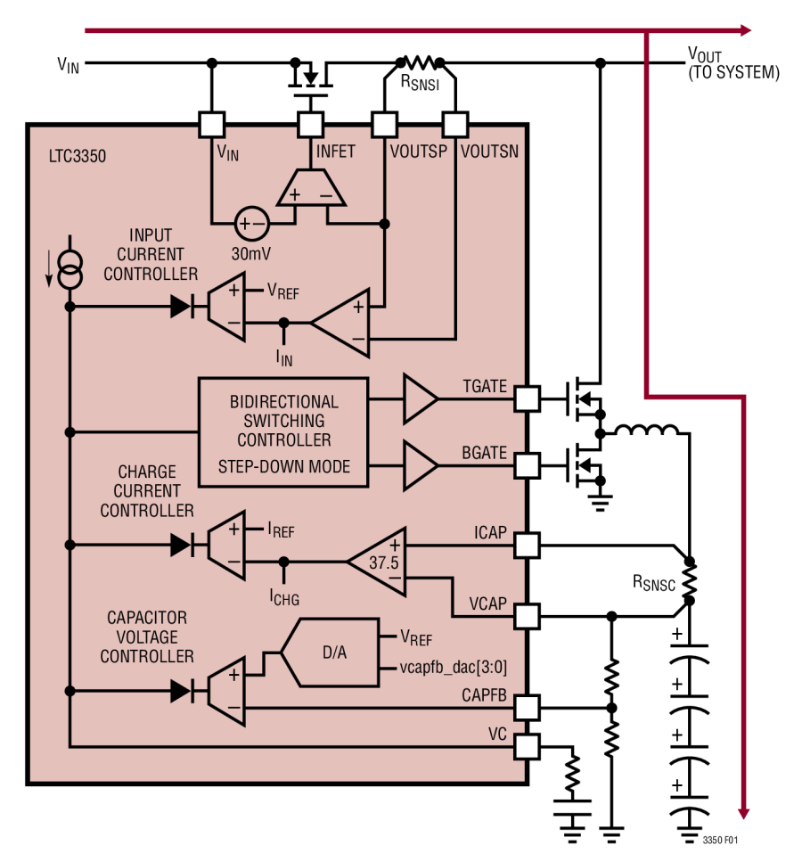 small resolution of high current supercapacitor charger and backup controller