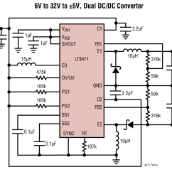 12v Dc To 9v Converter Circuit Diagram Mount St Helens Lt8471 6v 32v 5v Dual