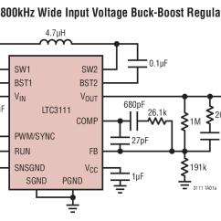 Circuit Diagram Of Buck Boost Converter Freightliner Electrical Wiring Ltc3111 5v 800khz Wide Input Voltage Regulator