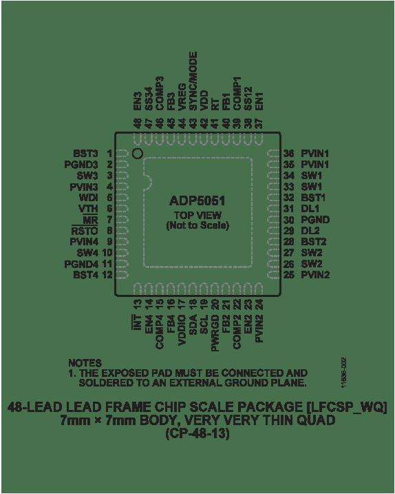 adp5051 pin diagram [ 900 x 1124 Pixel ]