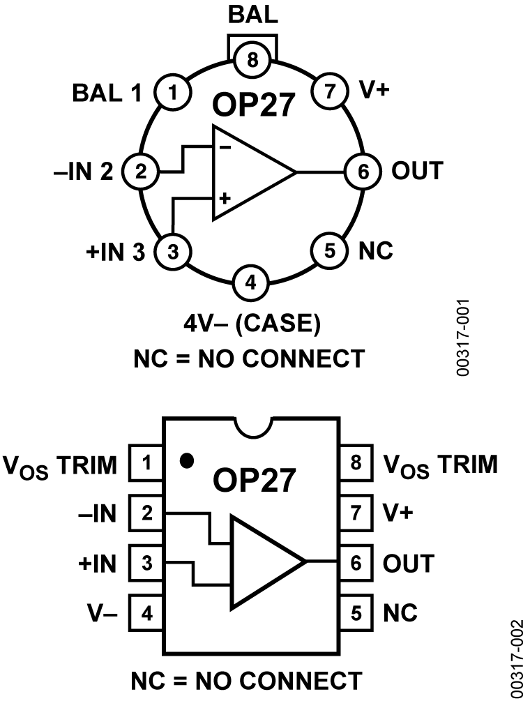 small resolution of op27 pin configuration