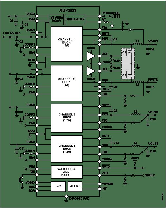 medium resolution of adp5051 typical application circuit diagram