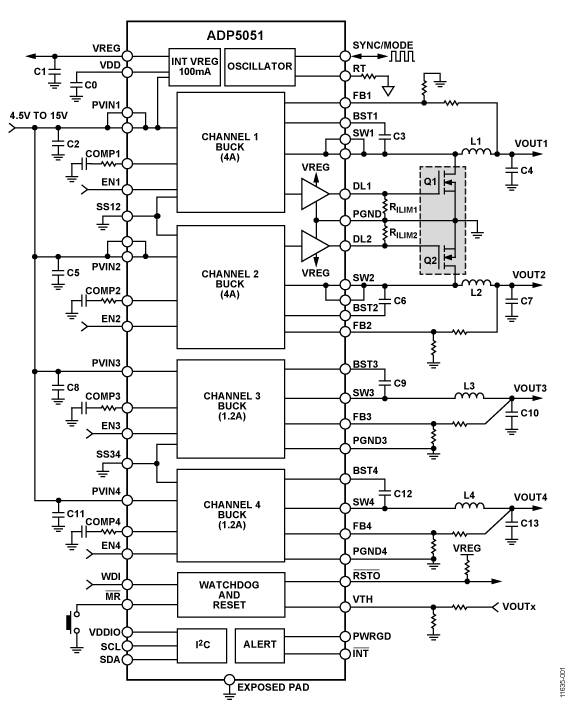 small resolution of adp5051 typical application circuit diagram