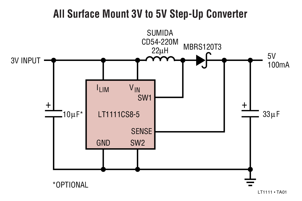 small resolution of lt1111 3v to 5v step up converter circuit collection analog devices circuit diagram as well step up dc converter circuit on dc to boost