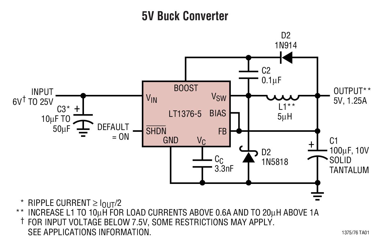 circuit diagram of buck boost converter how to make a uml java 62 schwabenschamanen de lt1376 5v collection analog devices rh com