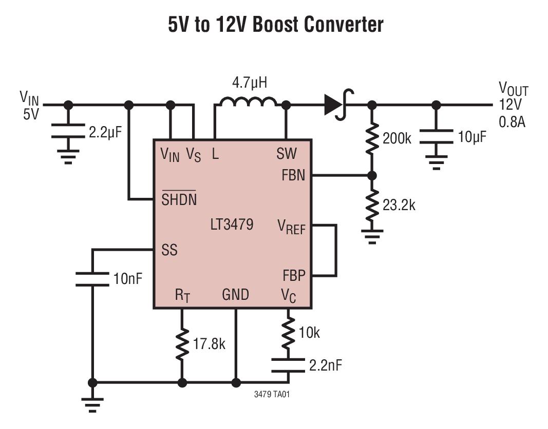 12vdc to 12vac converter circuit diagram circular flow of money lt3479 5v 12v boost collection