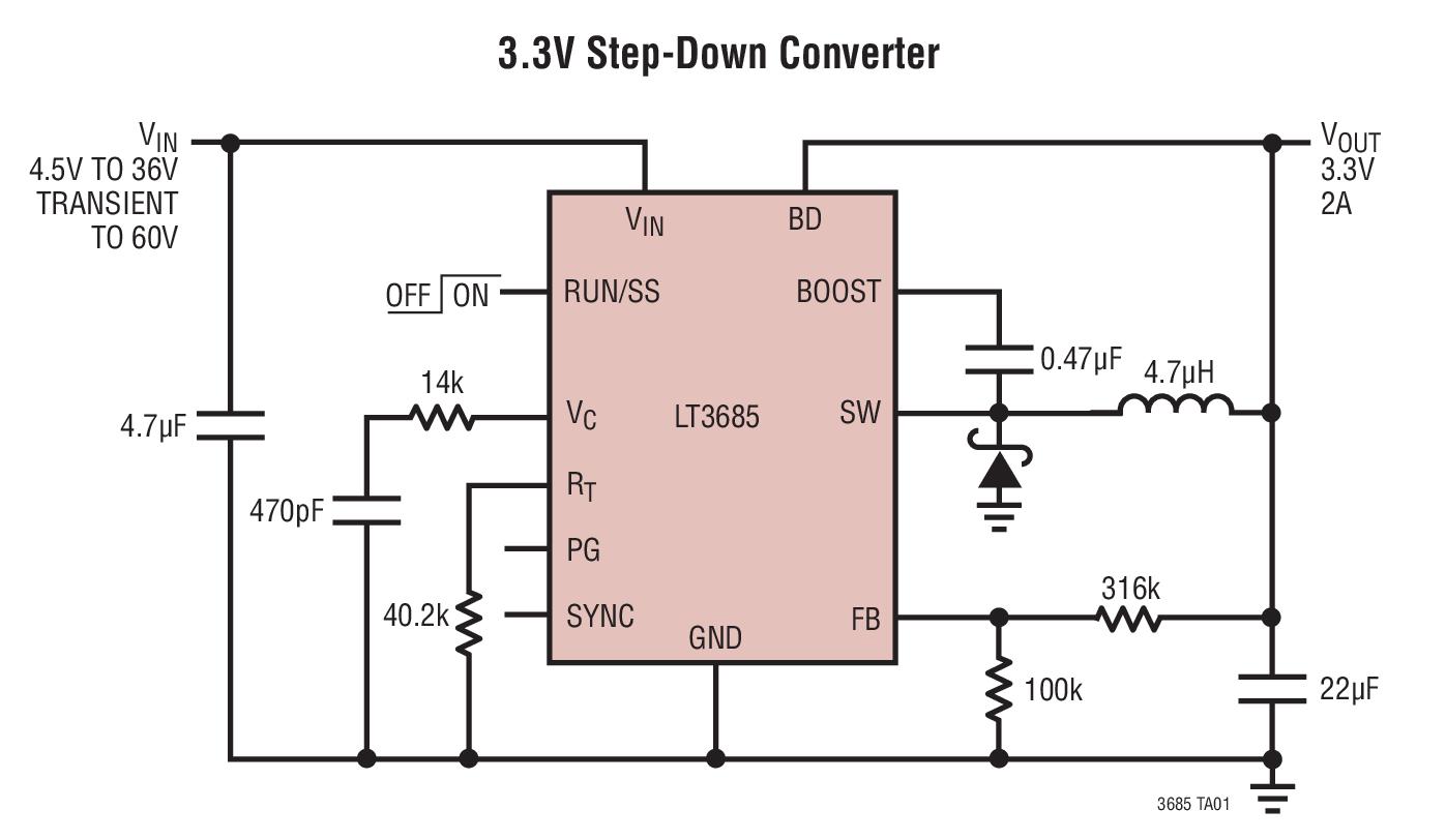 medium resolution of 3 3v step down converter