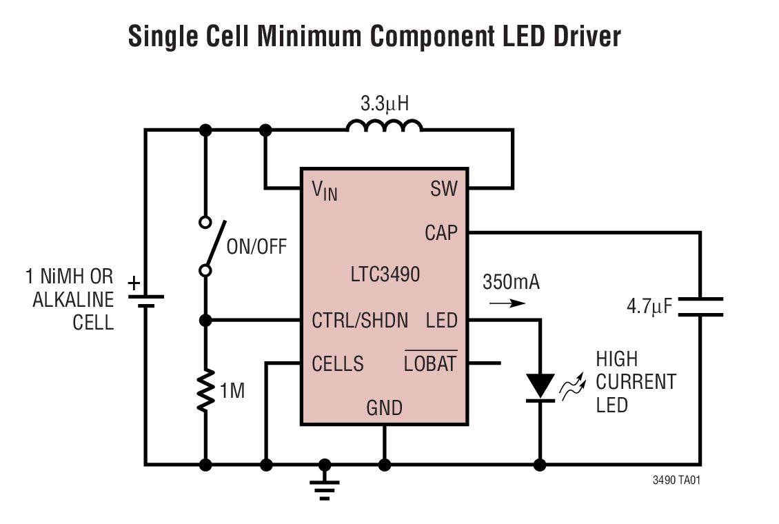 hight resolution of ltc3490 datasheet and product info analog devices battery cell led driver circuit schematic