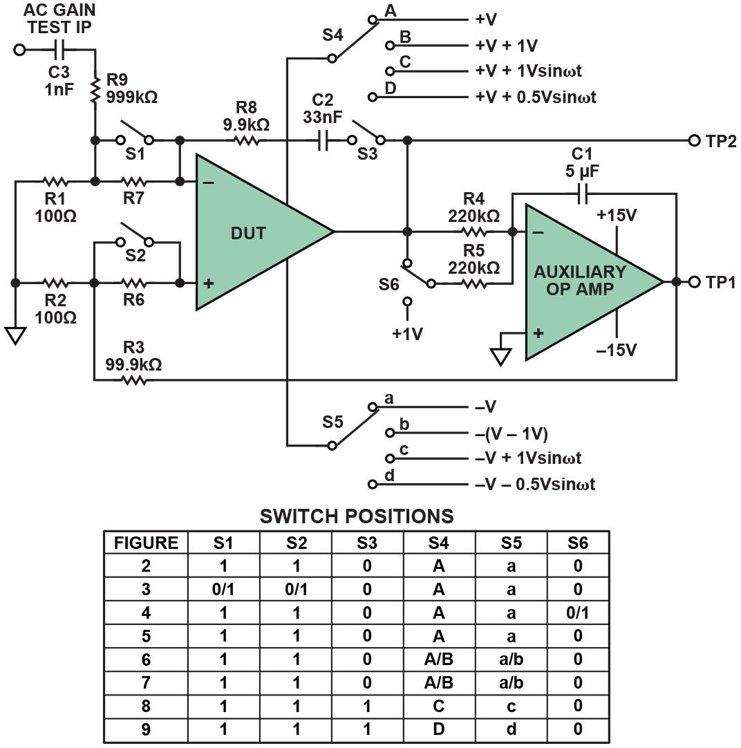 basic op amp measurement circuit  [ 1072 x 1082 Pixel ]