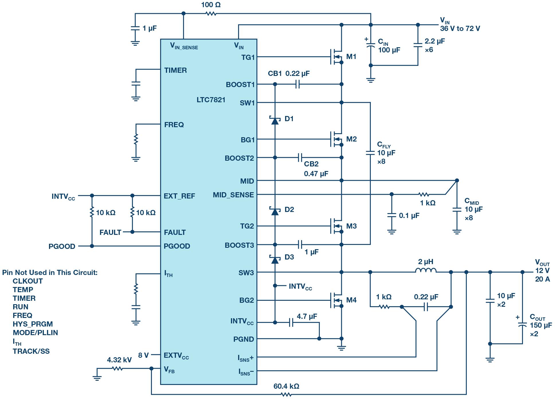 medium resolution of 72 v hybrid dc to dc converter reduces intermediate bus converter 36 volt to 12 converter wiring diagram