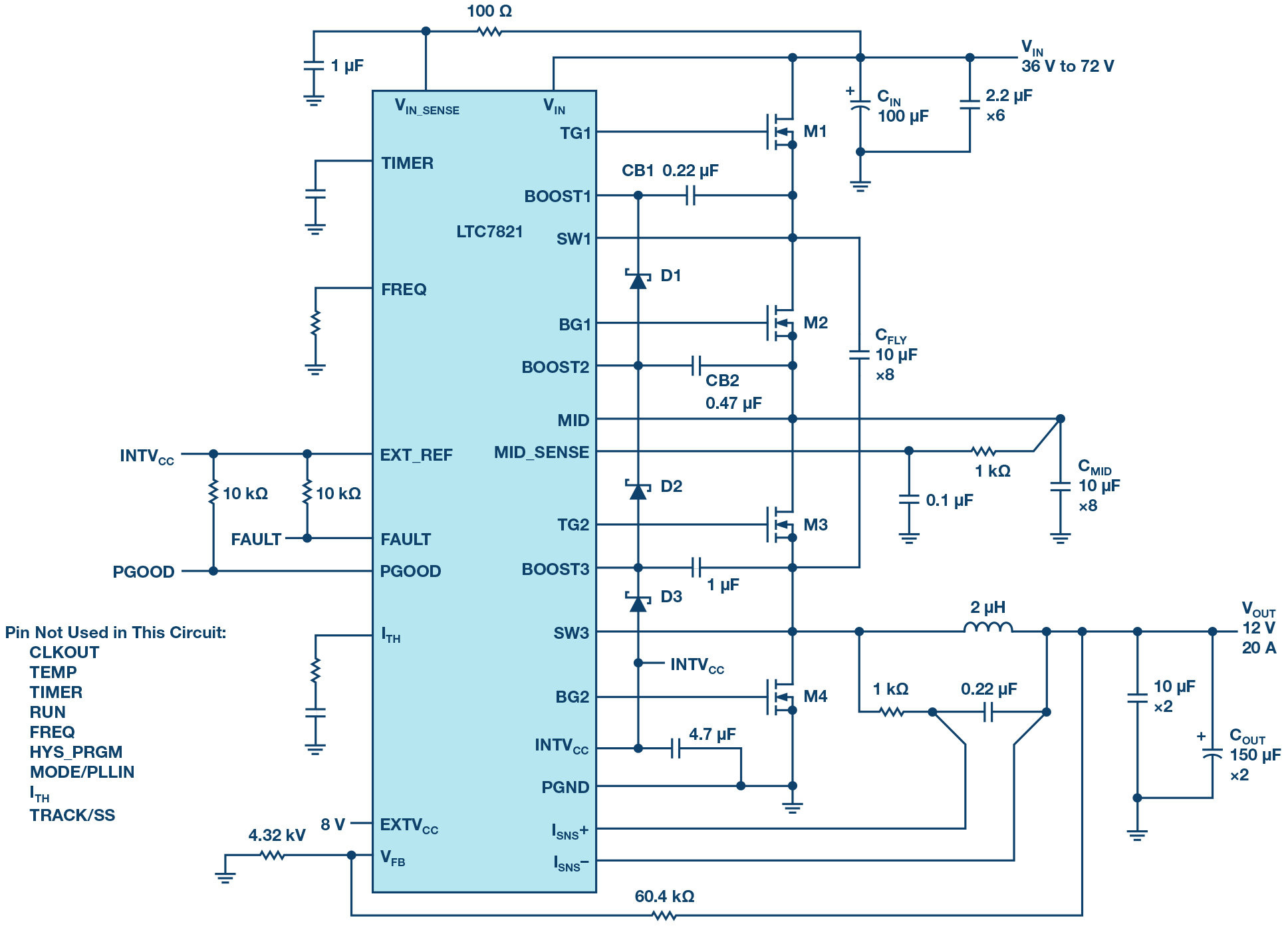 hight resolution of 72 v hybrid dc to dc converter reduces intermediate bus converter 36 volt to 12 converter wiring diagram