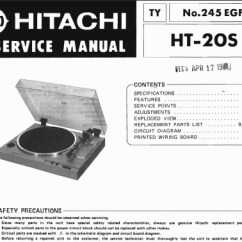 Fujitsu Ten Wiring Diagram Mitsubishi Ezgo Txt Hitachi Ht-20s Service Manual, Analog Alley Manuals