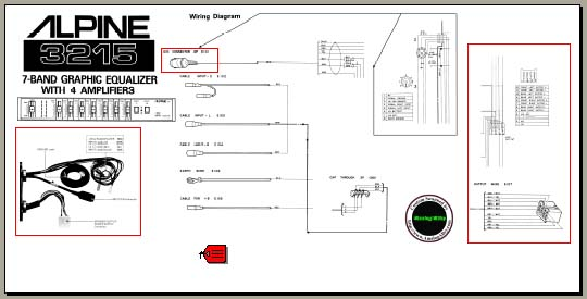 Alpine 3215 Wiring connection diagram, Analog Alley Manuals