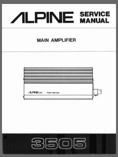 Alpine 3505, Analog Alley Manuals