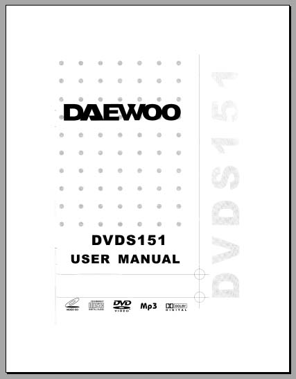 Daewoo DVDS151 User Manual, Analog Alley Manuals
