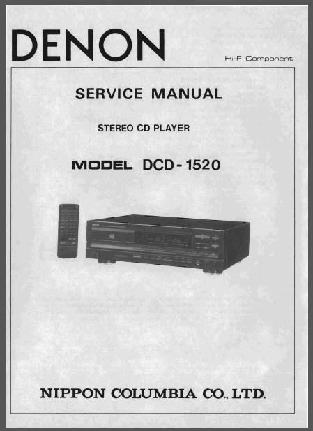 cd player wiring diagram 04 toyota corolla radio denon dcd-1520 service manual, analog alley manuals