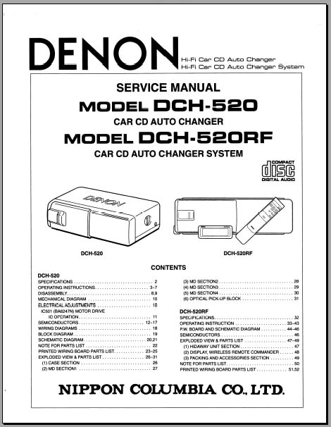 Denon DCH-520 Service/Operators Manual, Analog Alley Manuals