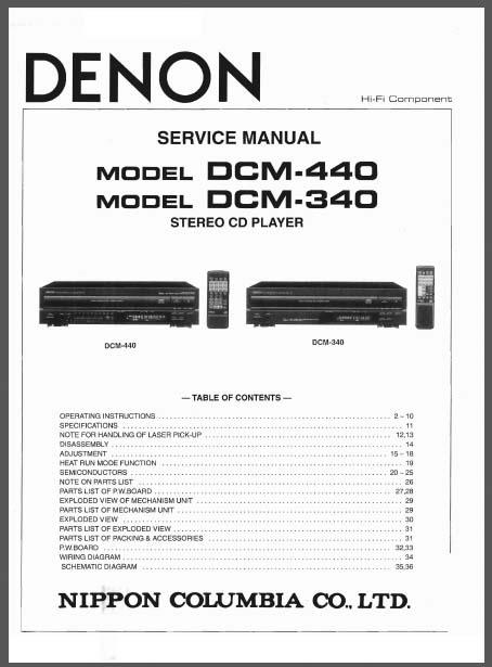 Denon DCM-440, DCM-340, Analog Alley Manuals