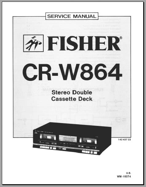 Fisher CR-W864 Service Manual, Analog Alley Manuals