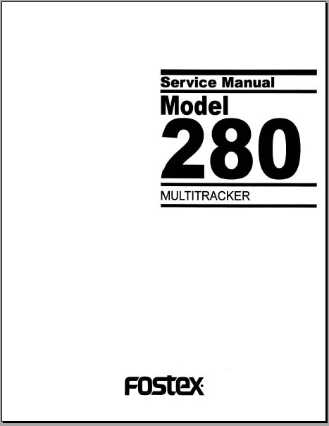Fostex 280 Multitracker Service Manual, Analog Alley Manuals