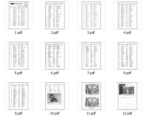 Grundig TK340, TS340 Parts List, Analog Alley Manuals