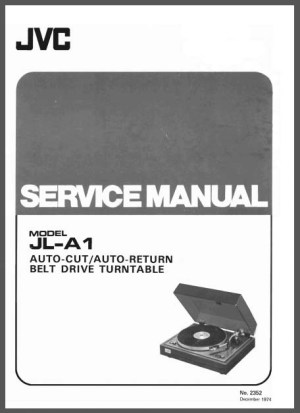 JVC JLA1 Service Manual, Analog Alley Manuals