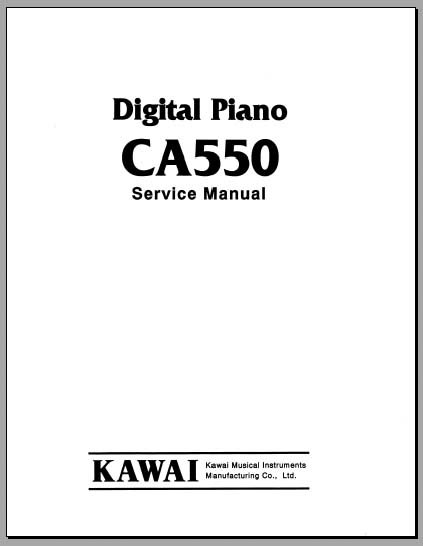 Kawai CA550 Service Manual, Analog Alley Manuals