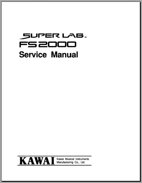 Kawai FS2000 Service Manual, Analog Alley Manuals