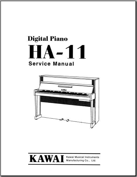 Kawai HA-11 Service Manual, Analog Alley Manuals