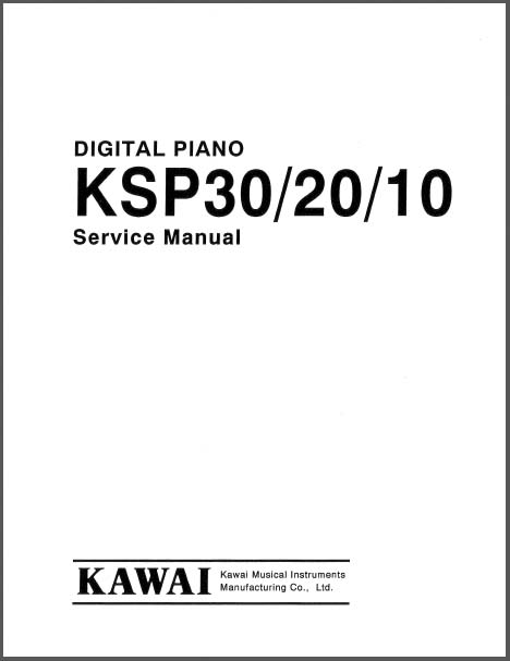 Kawai KSP30/20/10 Service Manual, Analog Alley Manuals