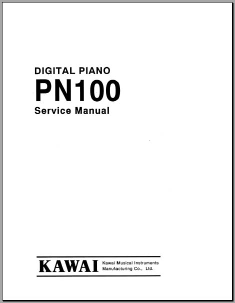 Kawai PN100 Service Manual, Analog Alley Manuals