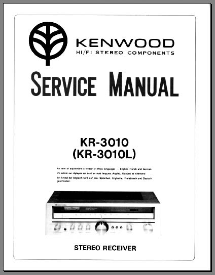 Kenwood KR-3010, 3030 Service Manual, Analog Alley Manuals