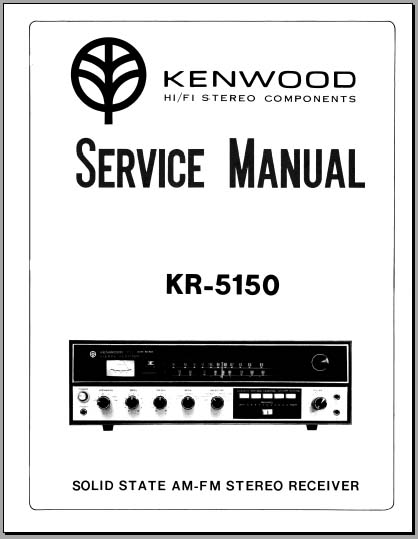 Kenwood KR-5150 Service Manual, Analog Alley Manuals