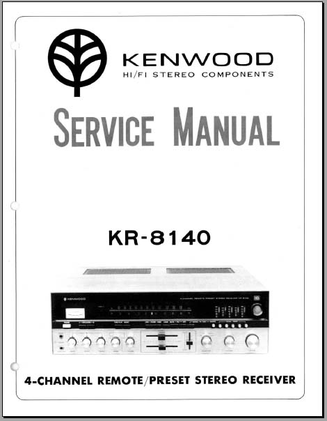 Kenwood KR-8140 Service Manual, Analog Alley Manuals