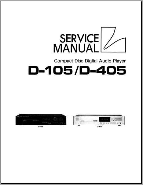 Luxman D-105/D-405 Service Manual, Analog Alley Manuals