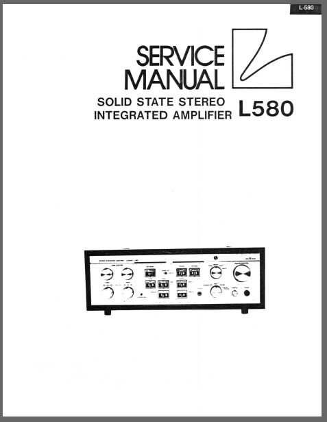 Luxman L-580 Service Manual, Analog Alley Manuals