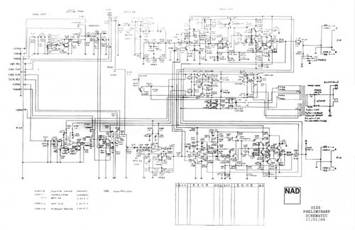 NAD 3125 preliminary schematic, Analog Alley Manuals