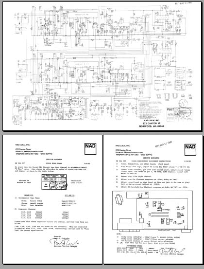 NAD 6040A Schematic Diagram & Bulletins, Analog Alley Manuals