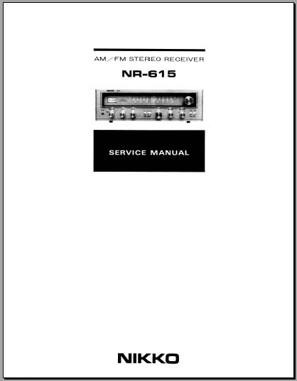 Nikko NR-615 Service Manual, Analog Alley Manuals