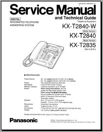 Panasonic KX-T2840, KX-T2835 Service Manual, Analog Alley