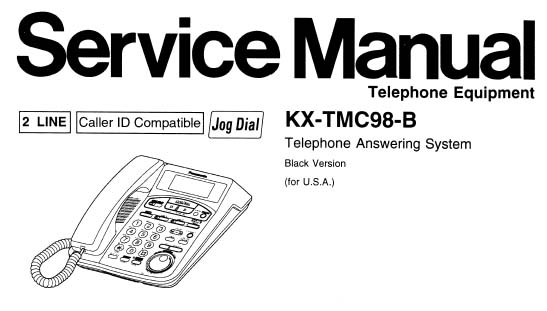 Panasonic KX-TMC98-B Manual, Analog Alley Manuals