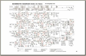 Panasonic RS768US Schematic Diagram, Analog Alley Manuals