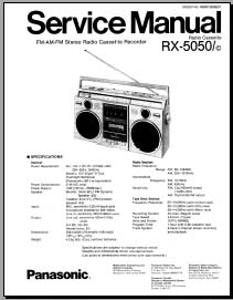Panasonic RX-5050 Service Manual, Analog Alley Manuals