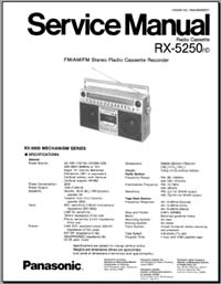 Panasonic RX-5250 Service Manual, Analog Alley Manuals