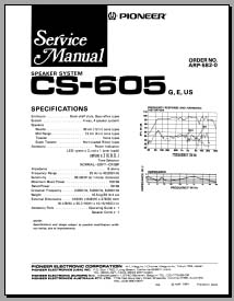 Pioneer CS-605 Service Manual, Analog Alley Manuals