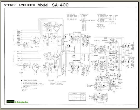 Pioneer SA-400 Schematic, Analog Alley Manuals