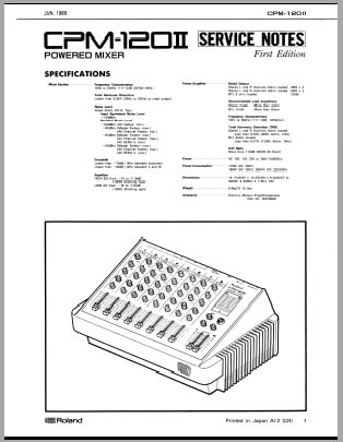 Roland CPM-120-II service Notes, Analog Alley Manuals