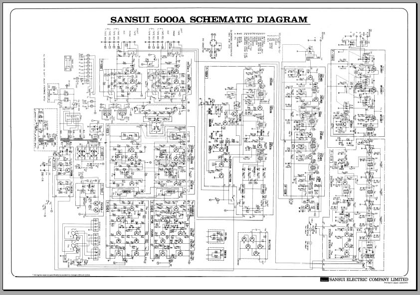Sansui 5000a Receiver Schematic Diagram, Analog Alley Manuals