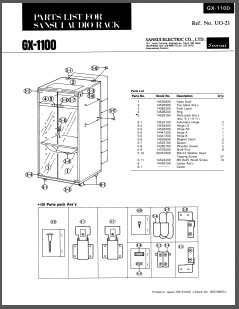 Sansui GX-1100 Parts List, Analog Alley Manuals