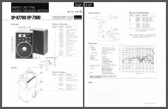 Sansui SP-X7700, SP-7300 Technical Datasheet, Analog Alley